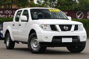 2012 Nissan Navara D40 S6 MY12 RX White 5 Speed Automatic Utility Mount Gravatt Brisbane South East Preview