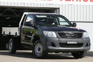 2013 Toyota Hilux TGN16R MY12 Workmate Black 5 Speed Manual Cab Chassis Mosman Mosman Area Preview