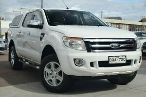 2012 Ford Ranger PX XLT Double Cab White 6 Speed Sports Automatic Utility Waitara Hornsby Area Preview