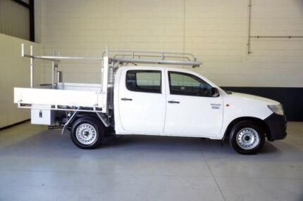 2013 Toyota Hilux TGN16R MY12 Workmate Double Cab 4x2 White 5 Speed Manual Utility Blair Athol Port Adelaide Area Preview