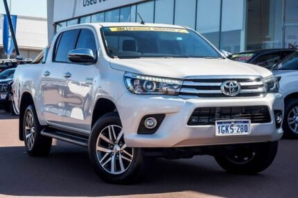 2017 Toyota Hilux GUN126R SR5 Double Cab Glacier White 6 Speed Sports Automatic Utility Wangara Wanneroo Area Preview