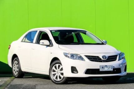 2012 Toyota Corolla ZRE152R MY11 Ascent White 4 Speed Automatic Sedan Ringwood East Maroondah Area Preview