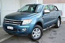 2012 Ford Ranger PX XLT Double Cab Blue 6 Speed Sports Automatic Utility Midland Swan Area Preview