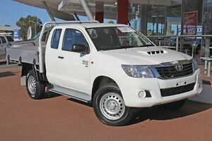 2015 Toyota Hilux KUN26R MY14 SR Xtra Cab Glacier White 5 Speed Manual Cab Chassis Myaree Melville Area Preview