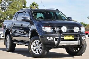 2014 Ford Ranger PX Wildtrak 3.2 (4x4) Black 6 Speed Automatic Crew Cab Utility Greenacre Bankstown Area Preview