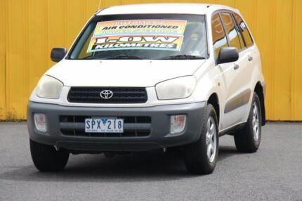 2002 Toyota RAV4 ACA21R Edge White 4 Speed Automatic Wagon Heatherton Kingston Area Preview
