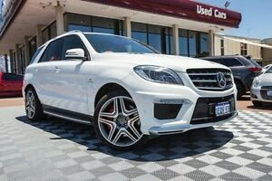 2014 Mercedes-Benz ML63 W166 MY805 AMG SPEEDSHIFT DCT White 7 Speed Sports Automatic Dual Clutch Alfred Cove Melville Area Preview