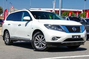 2016 Nissan Pathfinder R52 MY16 ST-L X-tronic 4WD White 1 Speed Constant Variable Wagon Hybrid Victoria Park Victoria Park Area Preview