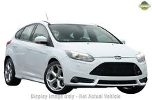 2013 Ford Focus LW MKII ST White 6 Speed Manual Hatchback Hillcrest Logan Area Preview