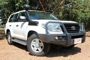 2014 Toyota Landcruiser VDJ200R MY13 GX Glacier White 6 Speed Automatic Wagon The Gardens Darwin City Preview