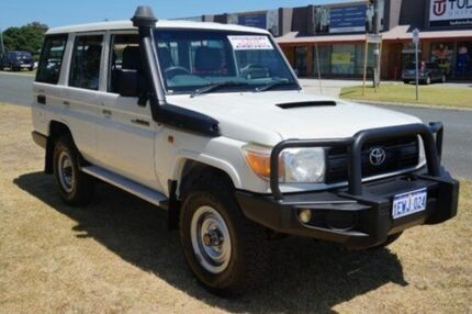 2011 Toyota Landcruiser VDJ76R MY10 Workmate White 5 Speed Manual Wagon Pearsall Wanneroo Area Preview