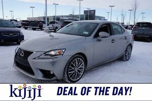 2015 Lexus IS 250 PREMIUM Accident Free,  Leather,  Sunroof,  He
