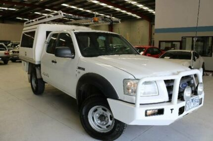 2007 Ford Ranger PJ XL (4x4) White 5 Speed Manual Dual Cab Chassis