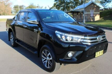 2016 Toyota Hilux GUN126R SR5 Double Cab Black 6 Speed Sports Automatic Utility East Maitland Maitland Area Preview