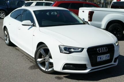 2014 Audi A5 8T MY14 Sportback Multitronic White 8 Speed Constant Variable Hatchback