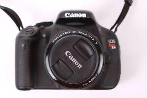 canon T3i + lentille 50mm en excellente état, tres bonne.  photo