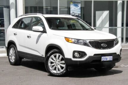 2011 Kia Sorento XM MY12 SLi White 6 Speed Sports Automatic Wagon Osborne Park Stirling Area Preview