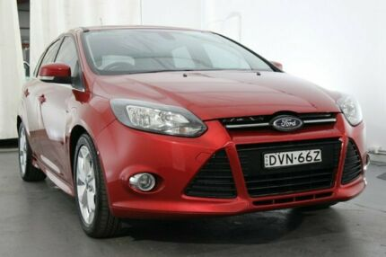 2015 Ford Focus LW MKII MY14 Sport Red 5 Speed Manual Hatchback Maryville Newcastle Area Preview
