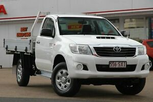 2013 Toyota Hilux KUN26R MY12 SR White 5 Speed Manual Cab Chassis Woolloongabba Brisbane South West Preview