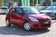 2013 Suzuki Swift FZ GA Red 5 Speed Manual Hatchback Campbelltown Campbelltown Area Preview