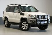 2003 Toyota Landcruiser Prado KZJ120R Grande (4x4) Pearl White 4 Speed Automatic Wagon Bentley Canning Area Preview