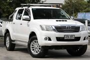 2014 Toyota Hilux KUN26R MY14 SR5 Double Cab Glacier White 5 Speed Automatic Utility Adelaide CBD Adelaide City Preview
