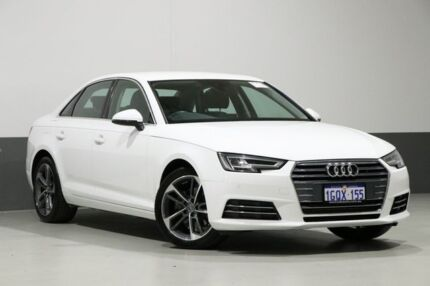 2017 Audi A4 F4 MY17 (B9) 2.0 Tfsi S Tronic Sport Ibis White 7 Speed Auto Dual Clutch Sedan Bentley Canning Area Preview
