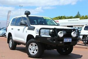 2015 Toyota Landcruiser VDJ200R GX White 6 Speed Sports Automatic Wagon Westminster Stirling Area Preview