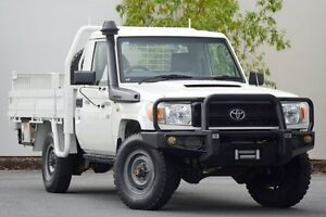 2011 Toyota Landcruiser VDJ79R MY10 Workmate White 5 Speed Manual Cab Chassis Robina Gold Coast South Preview