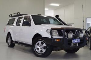 2010 Nissan Navara D40 RX White 6 Speed Manual Utility Myaree Melville Area Preview