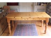 Large Solid Pine Farmhouse Table (Can Deliver)
