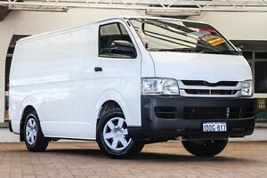 2009 Toyota Hiace TRH201R MY08 LWB White 5 Speed Manual Van Willagee Melville Area Preview