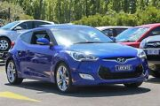 2012 Hyundai Veloster FS + Coupe Blue 6 Speed Manual Hatchback Ringwood East Maroondah Area Preview