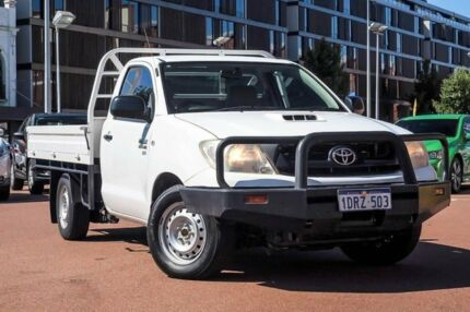 2011 Toyota Hilux KUN16R MY10 SR 4x2 White 5 Speed Manual Cab Chassis Fremantle Fremantle Area Preview