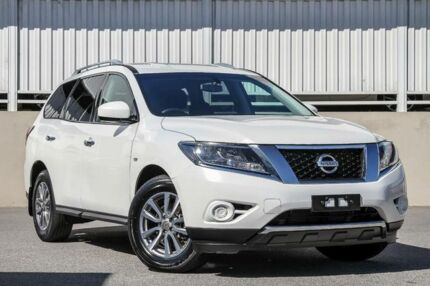 2016 Nissan Pathfinder R52 MY15 ST (4x2) White Continuous Variable Wagon Cannington Canning Area Preview