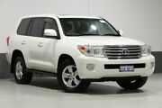 2013 Toyota Landcruiser VDJ200R MY12 VX (4x4) White 6 Speed Automatic Wagon Bentley Canning Area Preview