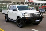 2015 Toyota Hilux GUN136R SR Double Cab 4x2 Hi-Rider White 6 Speed Manual Utility Strathmore Moonee Valley Preview