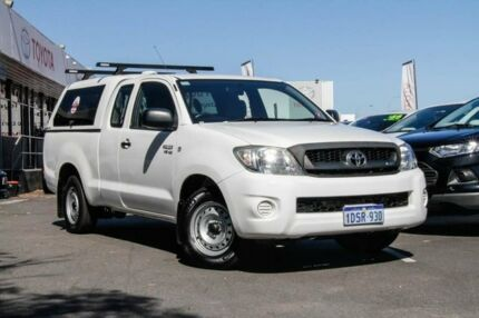 2011 Toyota Hilux GGN15R MY12 SR Xtra Cab Glacier White 5 Speed Automatic Utility