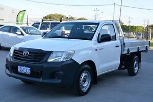 2013 Toyota Hilux TGN16R MY12 Workmate White 4 SP AUTOMATIC Cab Chassis Welshpool Canning Area Preview