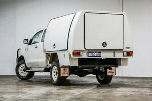 2012 Toyota Hilux KUN26R MY12 SR Xtra Cab White 5 Speed Manual Cab Chassis