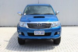 2015 Toyota Hilux KUN26R MY14 SR5 Double Cab Blue 5 Speed Automatic Utility