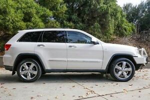 2011 Jeep Grand Cherokee WK MY2011 Overland White 5 Speed Sports Automatic Wagon Glendalough Stirling Area Preview