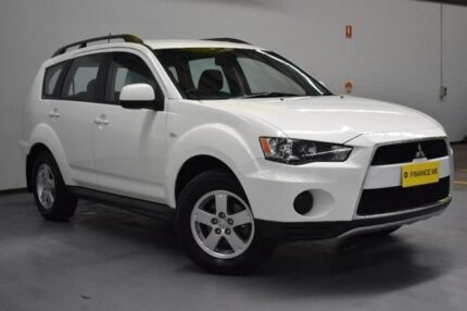 2012 Mitsubishi Outlander ZH MY12 LS 2WD White 6 Speed Constant Variable Wagon
