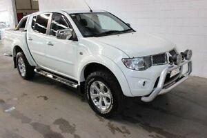 2013 Mitsubishi Triton MN MY14 GLX-R Double Cab White 5 Speed Manual Utility Burnie Burnie Area Preview