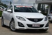 2011 Mazda 6 GH1052 MY12 Touring White 5 Speed Sports Automatic Hatchback Jamboree Heights Brisbane South West Preview