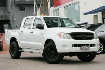 2007 Toyota Hilux GGN25R MY08 SR White 5 Speed Automatic Utility Hillcrest Logan Area Preview