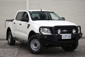 2014 Ford Ranger PX XL Double Cab 4x2 Hi-Rider White 6 Speed Sports Automatic Utility