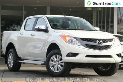 2014 Mazda BT-50 UP0YF1 GT White 6 Speed Manual Utility Hobart CBD Hobart City Preview