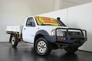 2004 Nissan Navara D22 DX (4x4) White 5 Speed Manual 4x4 Cab Chassis Underwood Logan Area Preview