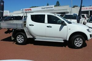 2013 Mitsubishi Triton MN MY13 GLX Double Cab White 4 Speed Sports Automatic Utility Westminster Stirling Area Preview